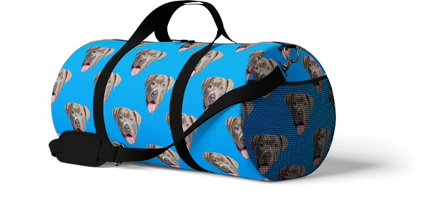 custom dog duffle bag