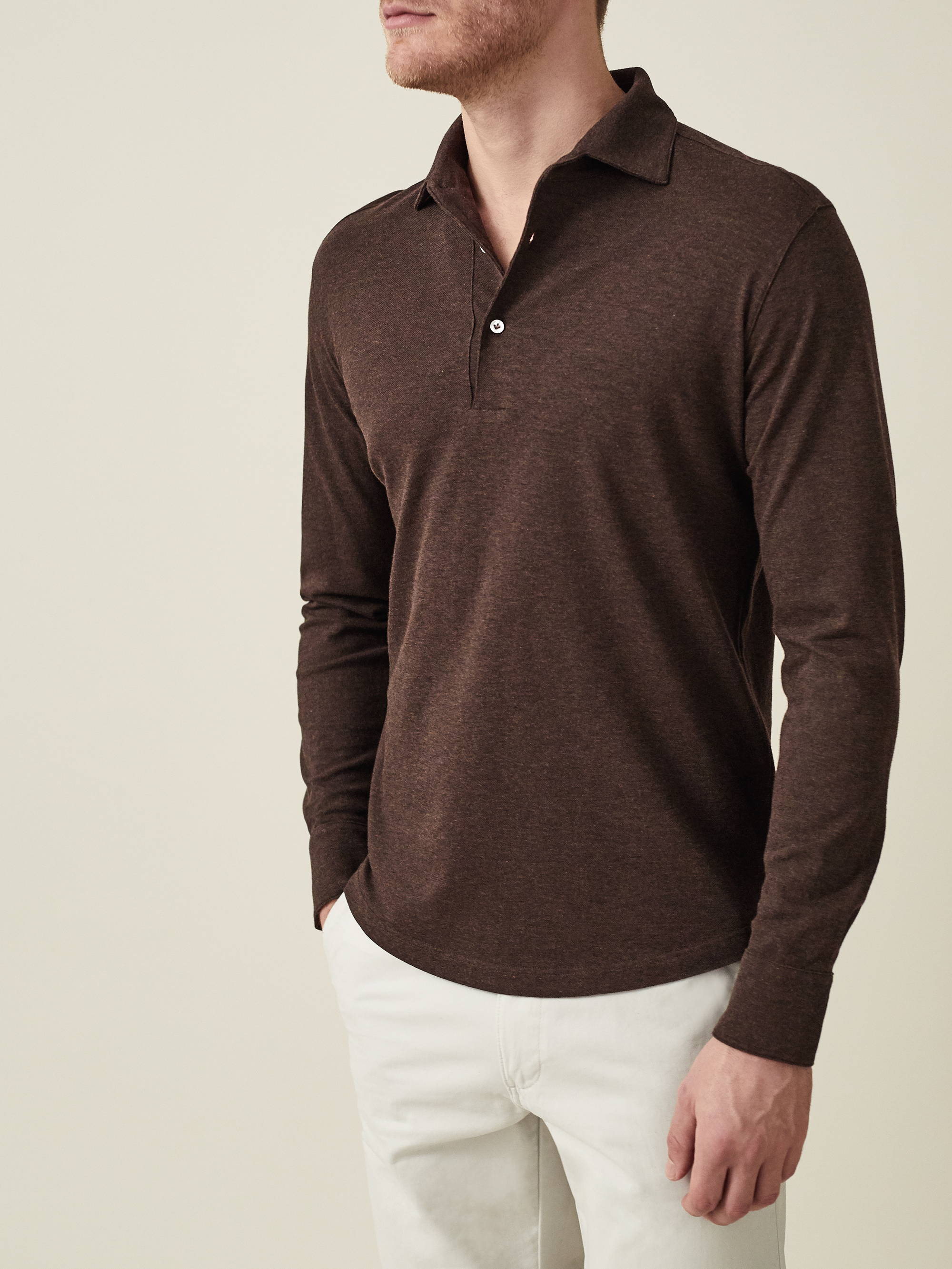 Chocolate Brown Brera Polo