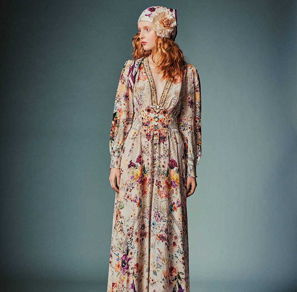 CAMILLA sew in love dress, CAMILLA floral leopard dress