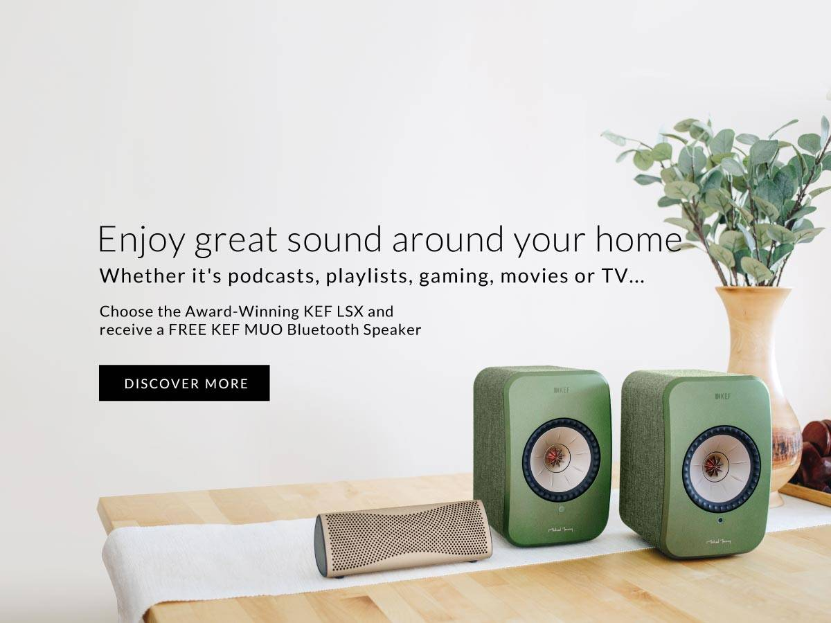 Enjoy great kef sound wherever you areHEREVER YOU ARE