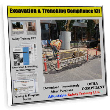 Excavation & Trenching Safety Training Compliance Kit