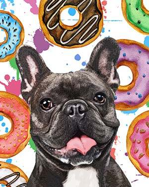 french bulldog donuts