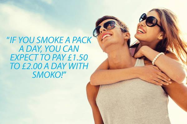 cambiar a SMOKO Los cigarrillos electrónicos pueden ahorrarle hasta £ 8 todos los días