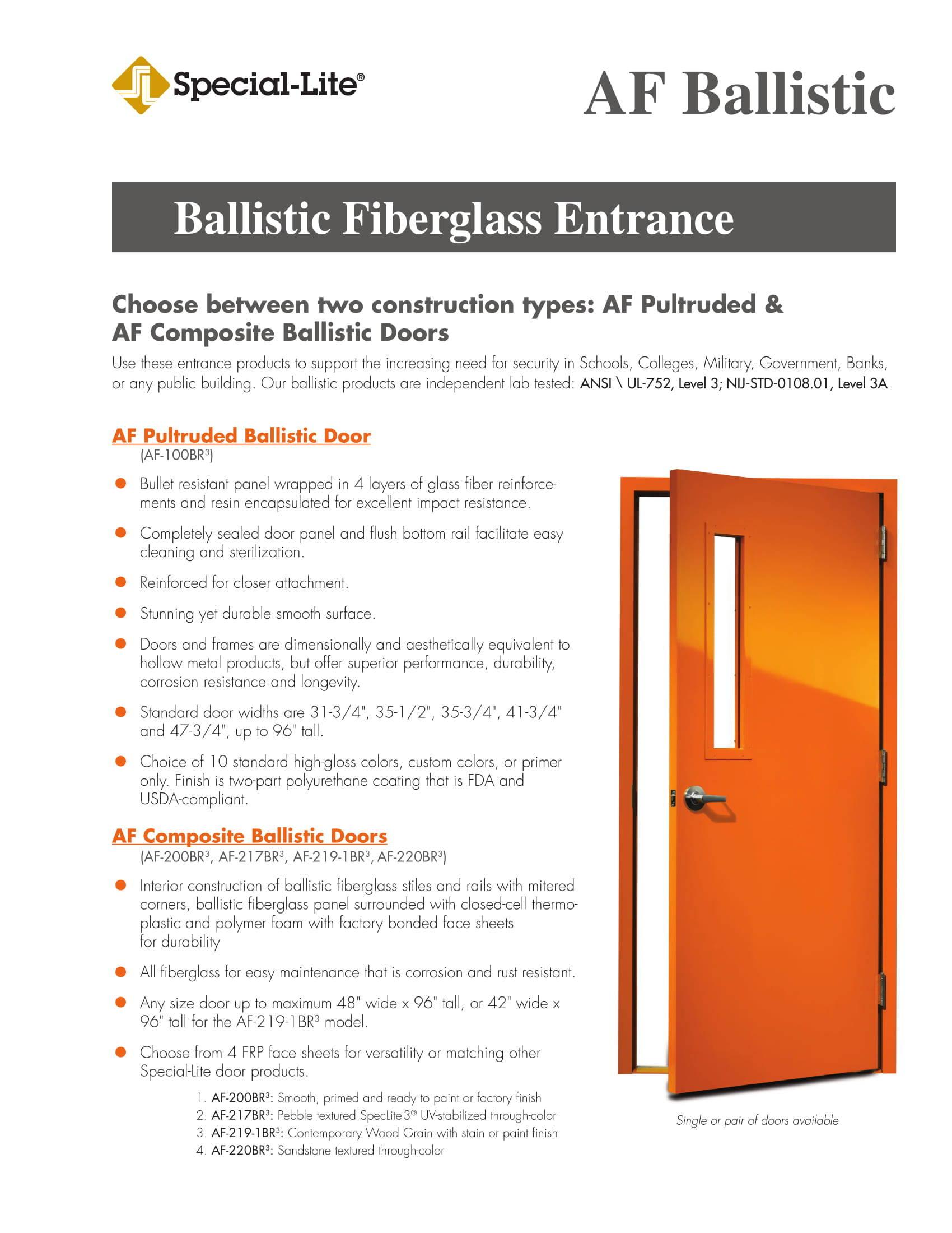 AF Ballistic Fiberglass Entrance