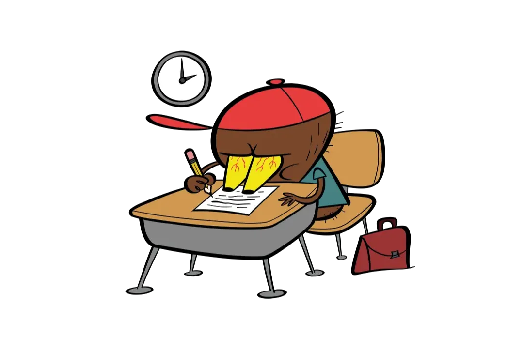 illustrated character writing
