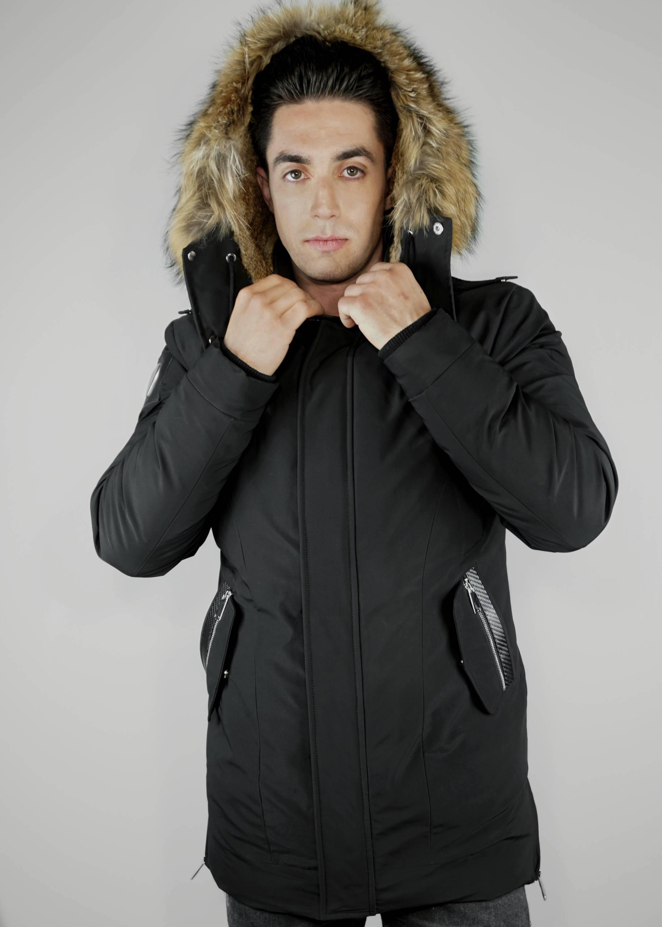 Carbonesque mens Luxus down parka