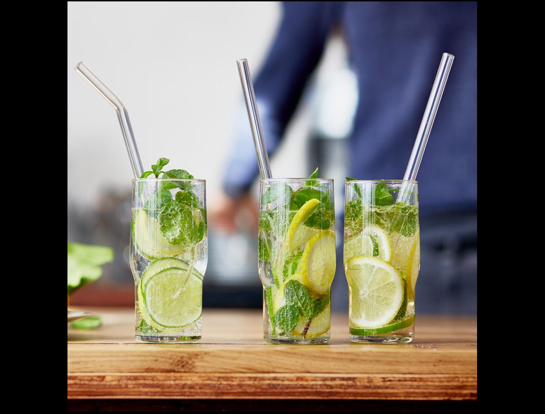 HALM Glasstrohhalme fur Händler Mohito cocktails mit verschiedene trinkhalme
