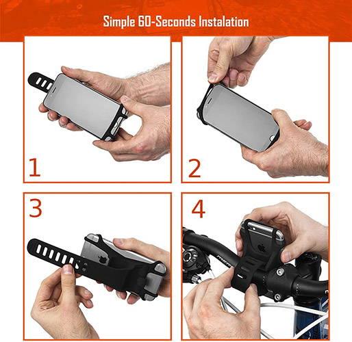Silicone Bike Phone Holder Mount 4