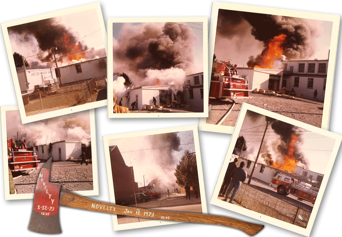 Photos of the warehouse fire