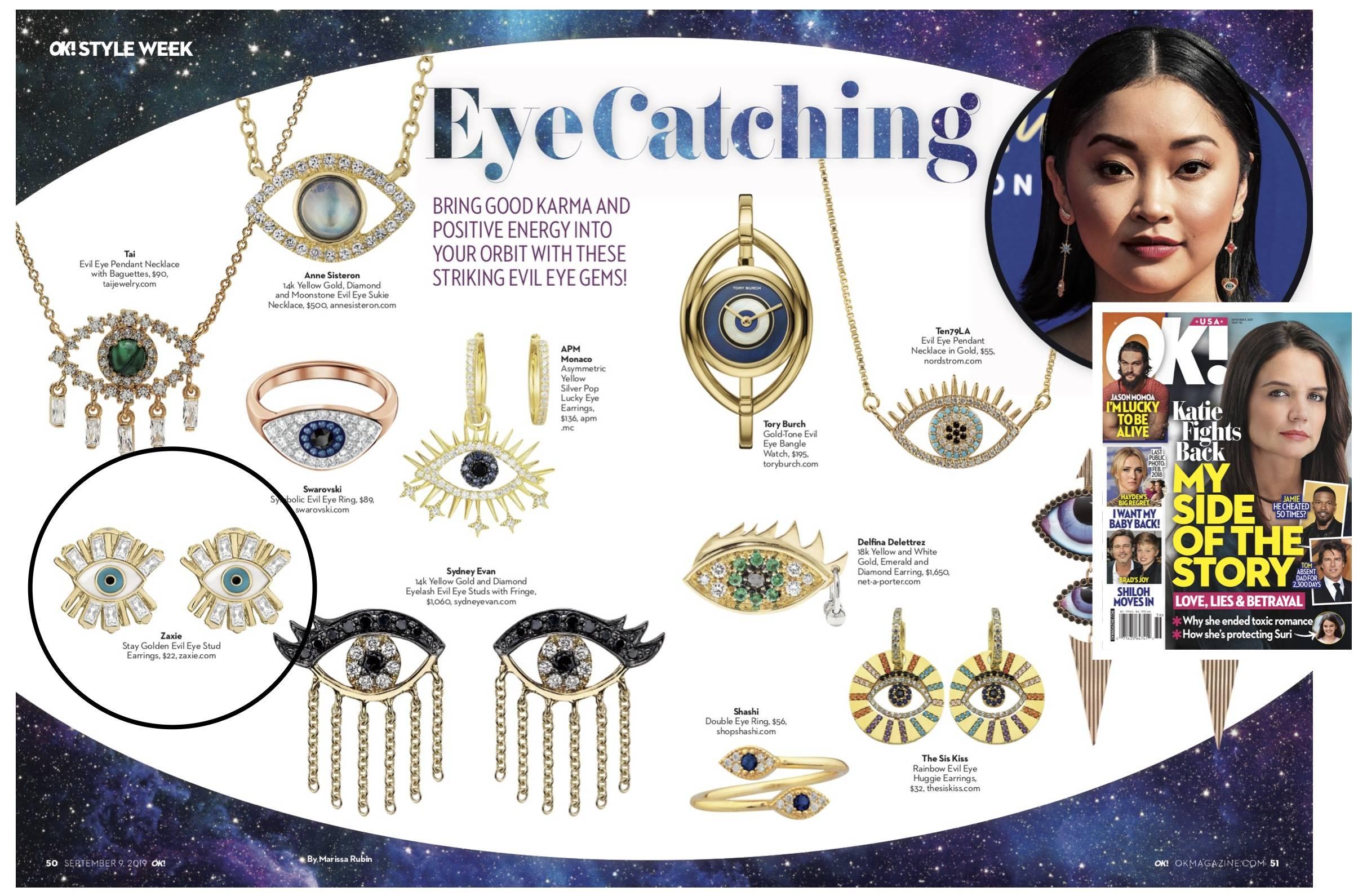 ZAXIE Evil Eye Stud Earrings in US weekly