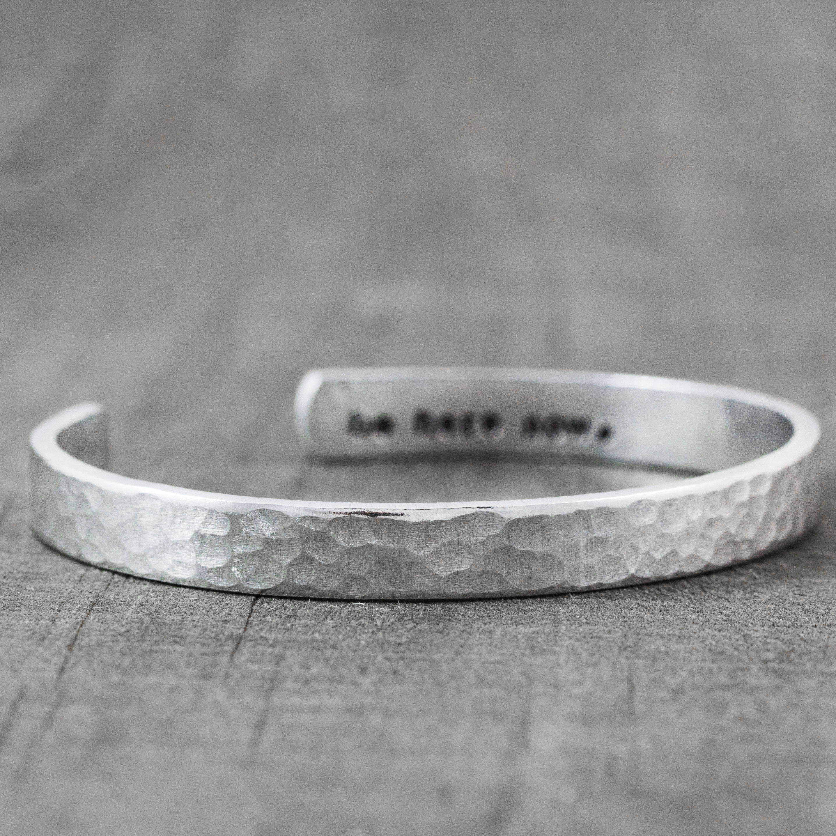 Sterling Silver Secret Message Cuff