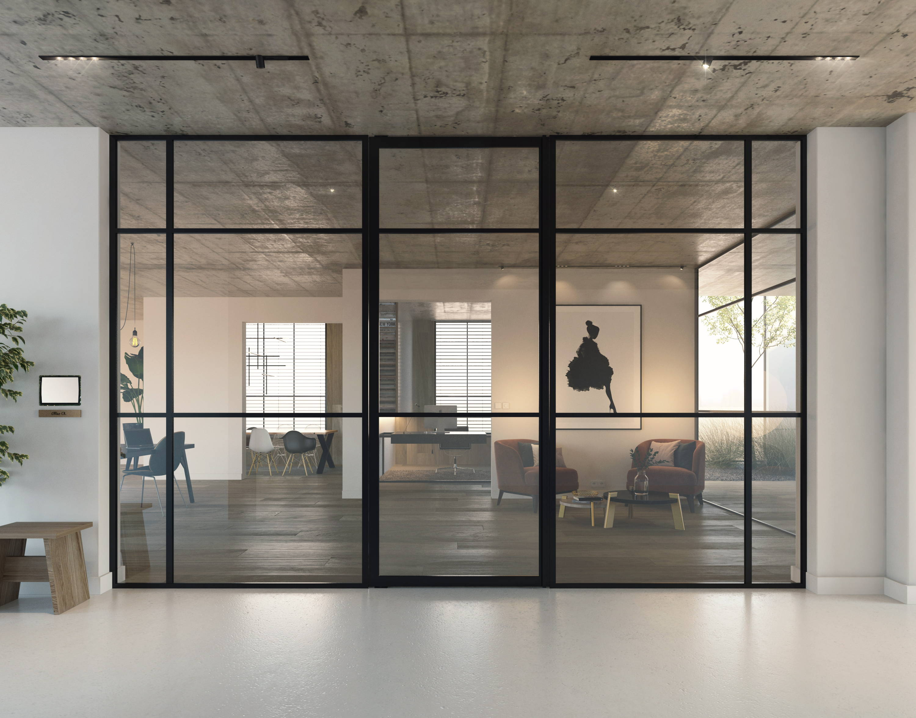Crittall style office partition