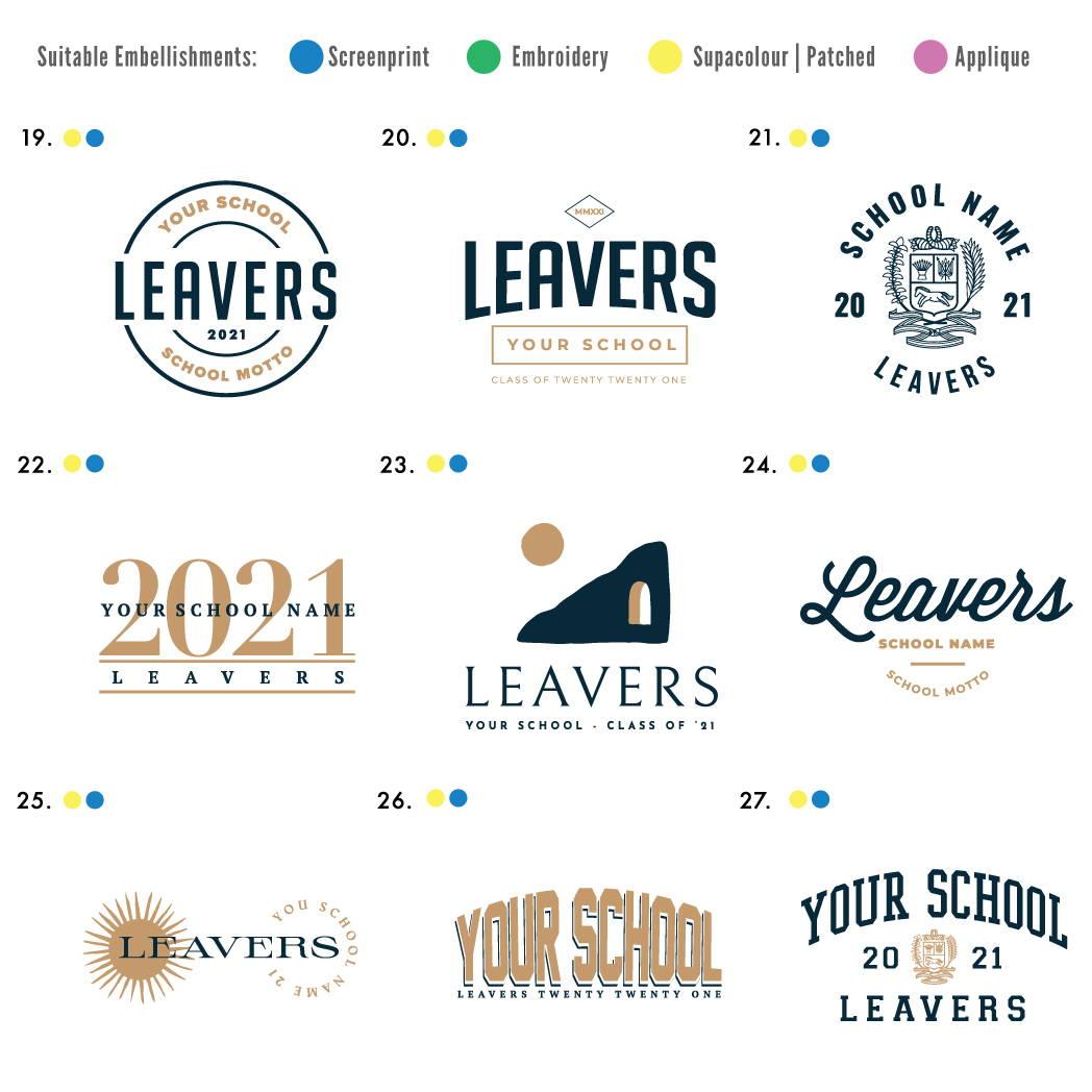 Order your custom Leavers Hoodies with The Print Room | Leavers Gear Design 2021