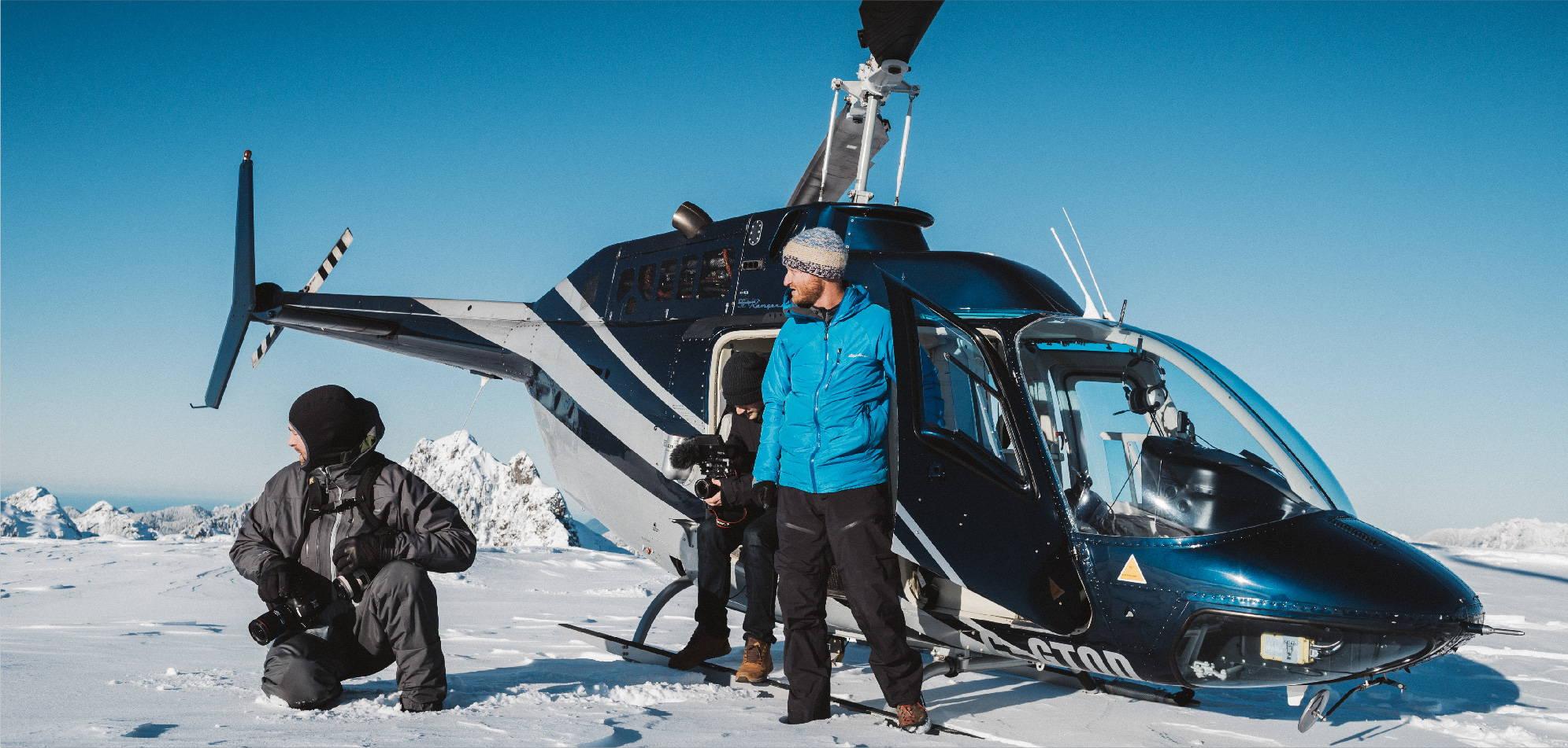 Snowy helicopter ride Jeremy Koreski | Rumpl