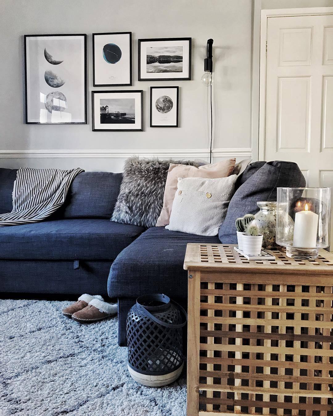 monochrome living room wall art