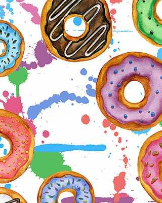 donut pop art background