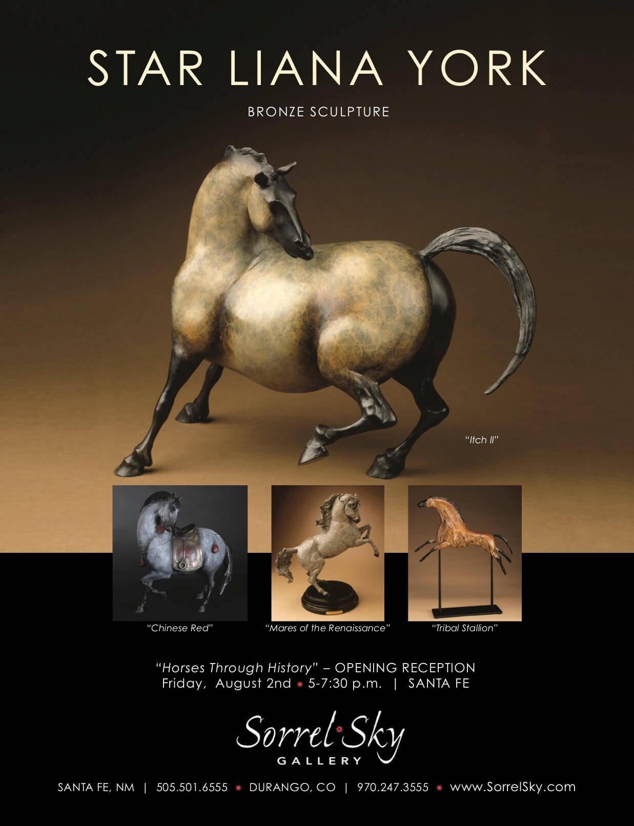 Star York. Star Liana York. Rock Art Mares. Bronze Sculpture. Horse Sculpture. Santa Fe Art Gallery. Horses Through History. Sorrel Sky Gallery. Rock Art Mares.