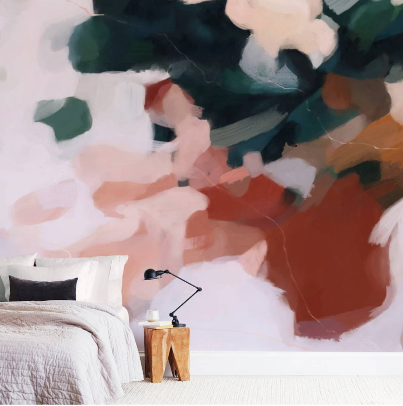 Parima Studio x Minted wall murals, large scale art, bedroom art