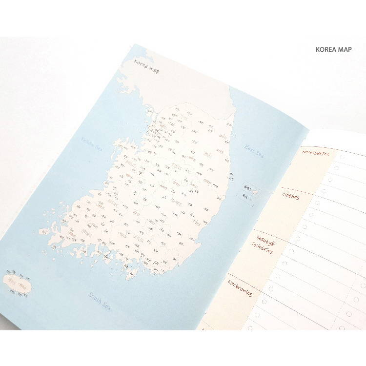 Korea map - O-CHECK 2020 Shiny days hardcover dated weekly diary planner