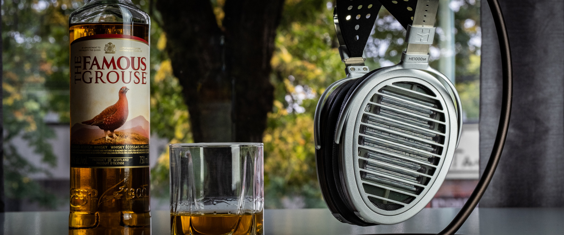 Hifiman HE1000se with Famous Grouse Whiskey