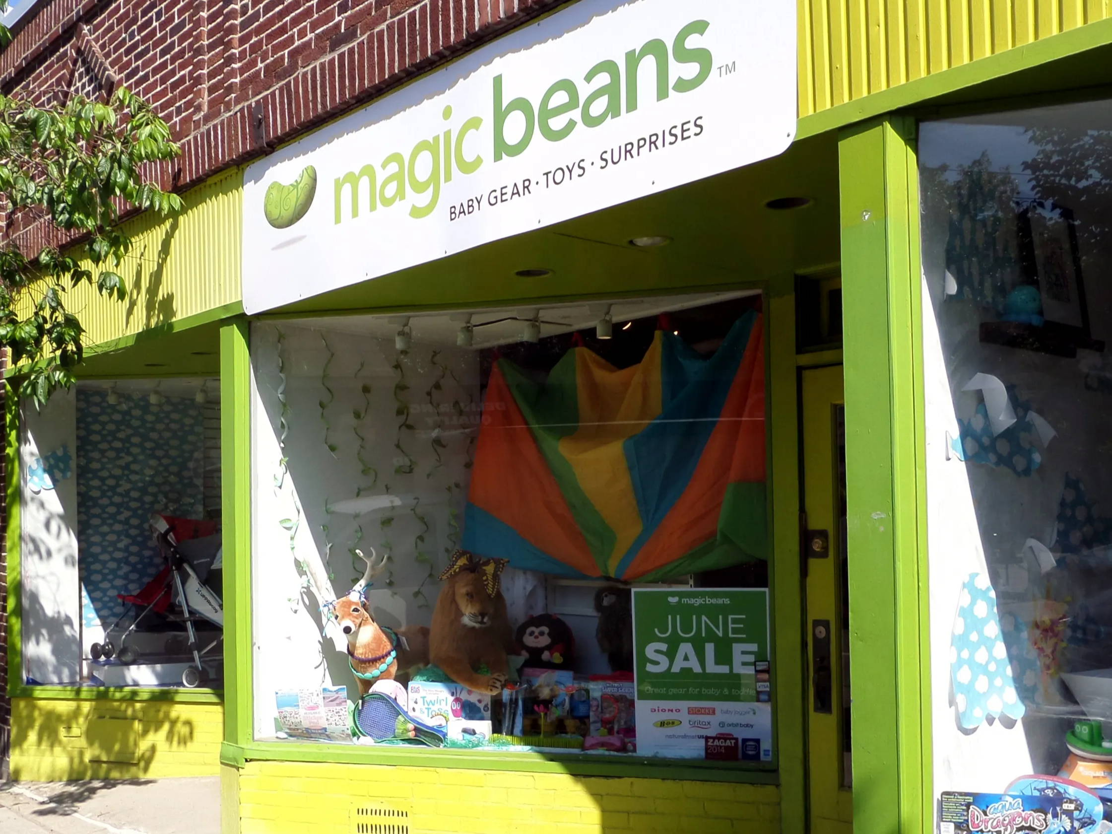 Magic Beans store front in Cambridge, MA