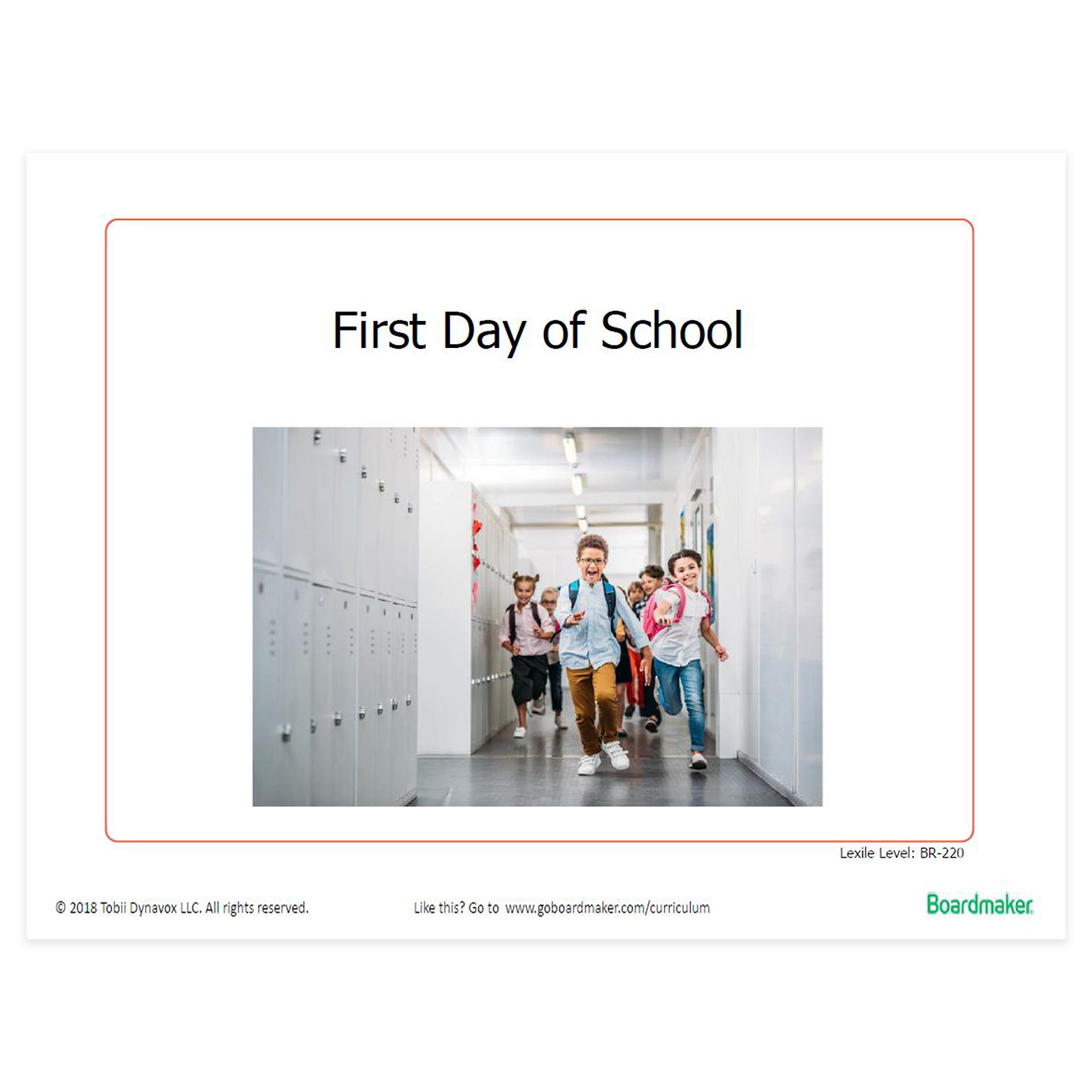 Example of printable activities - First Day of School