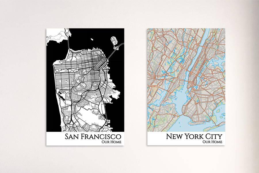 city map prints