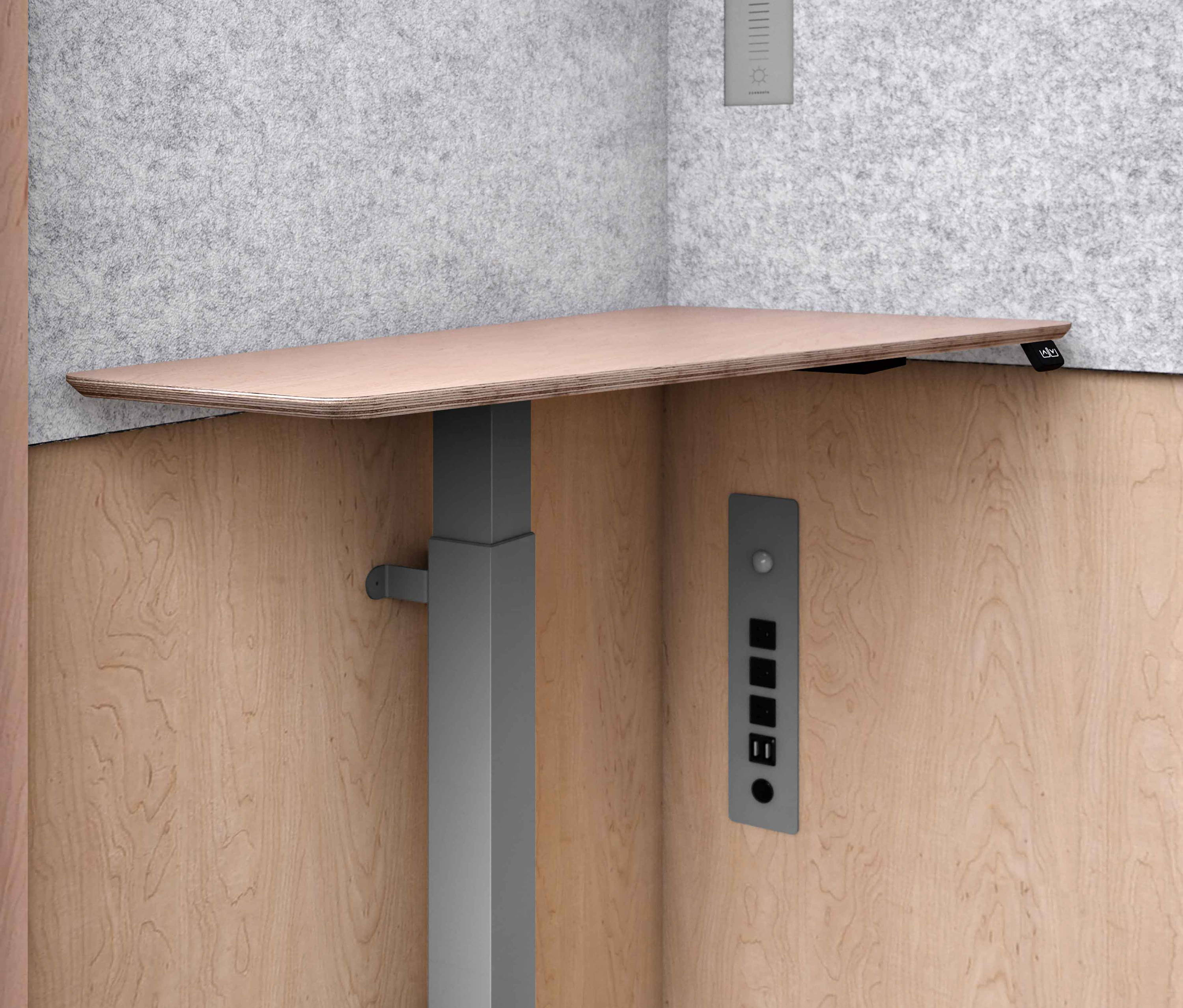 Zenbooth Adjustable Desk | Office Phone Booths