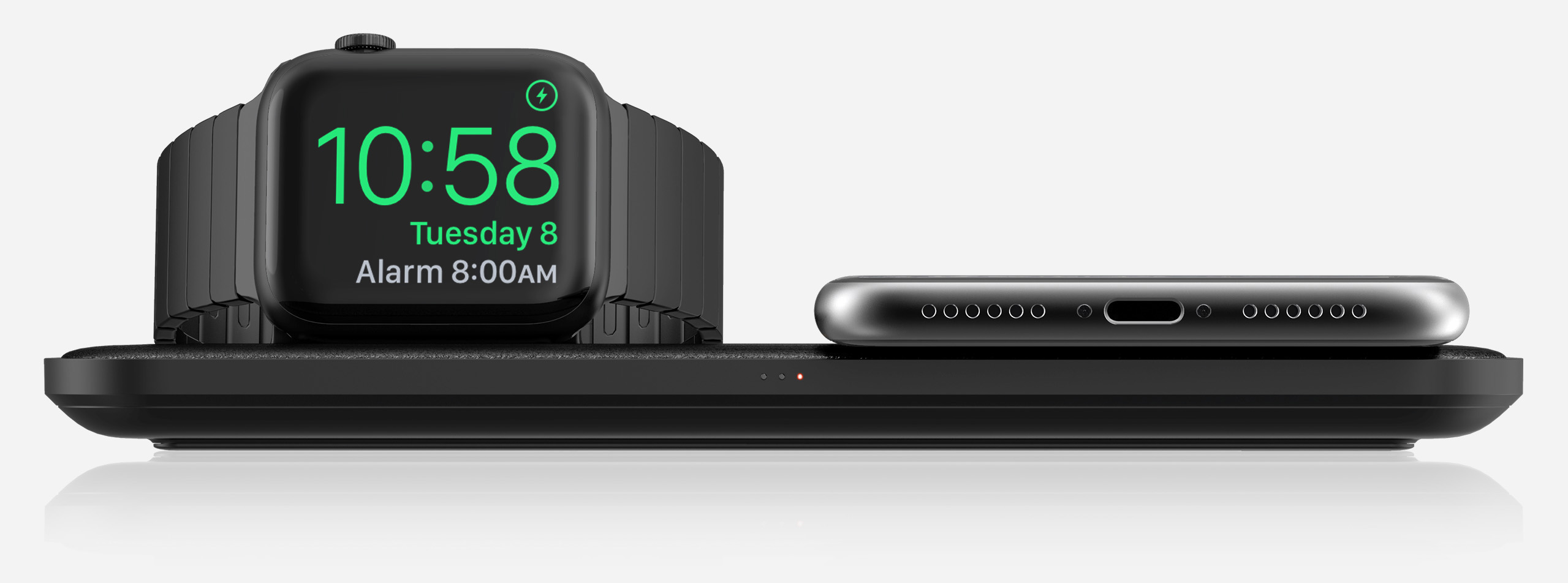 Base Station Apple Watch charging an Apple Watch and an iPhone