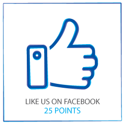 Like us on Facebook to earn 25 points