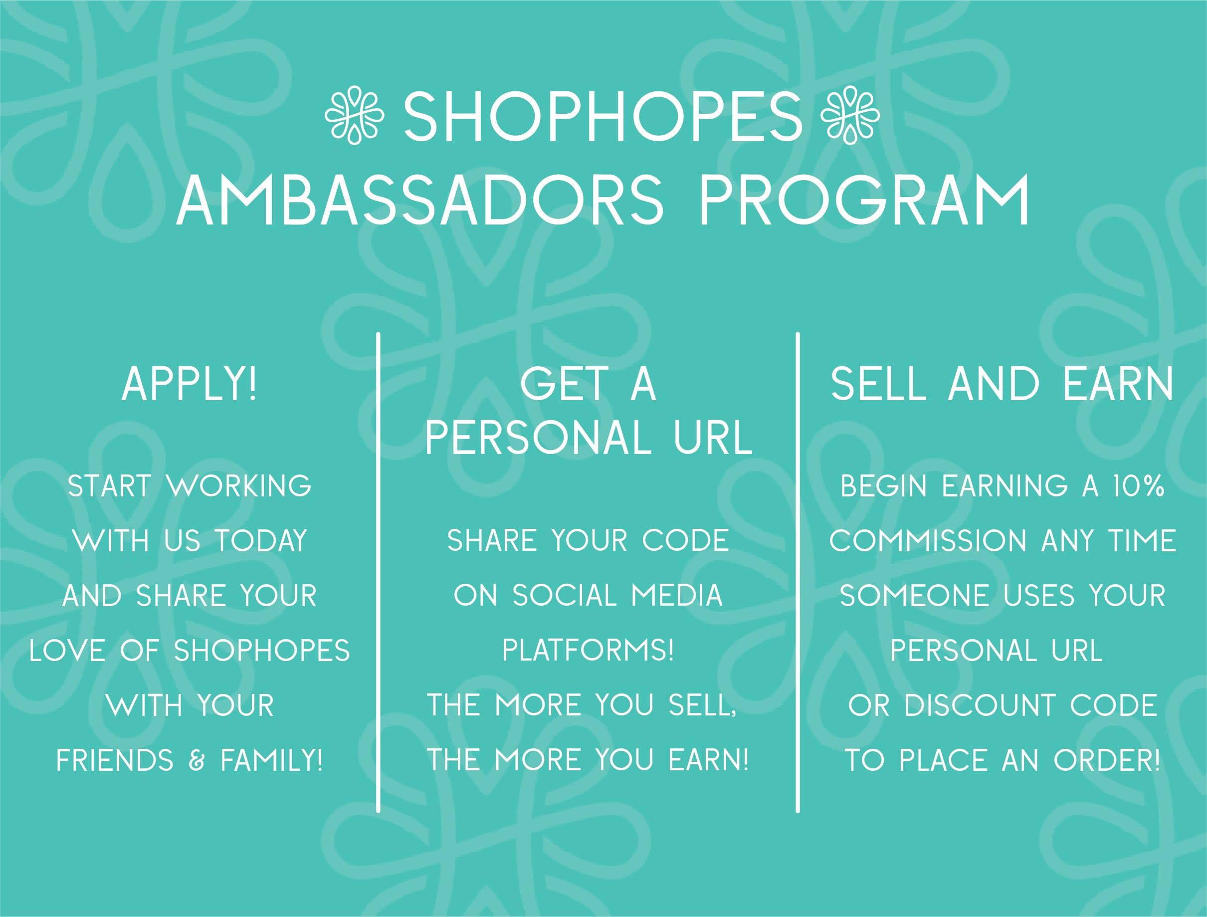 Shophopes Ambassadors Program