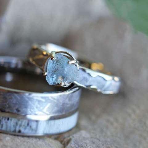 Raw Stone Engagement Ring