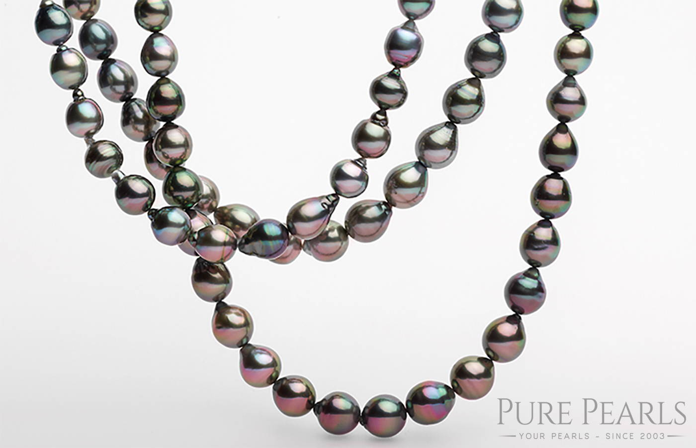 Black Tahitian Pearls Shimmer with Natural Peacock Overtones and are from French Polynesia
