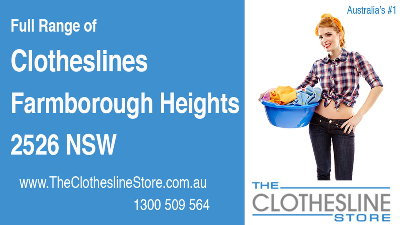 New Clotheslines in Farmborough Heights 2526 NSW