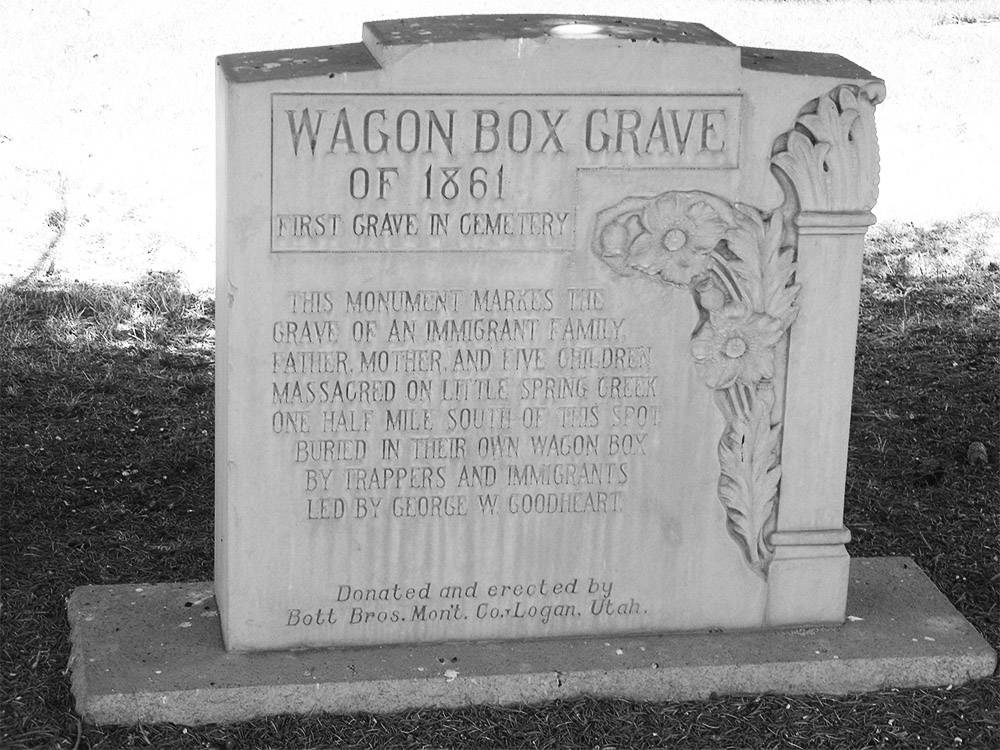 Wagon Box Grave in Soda Springs, Idaho