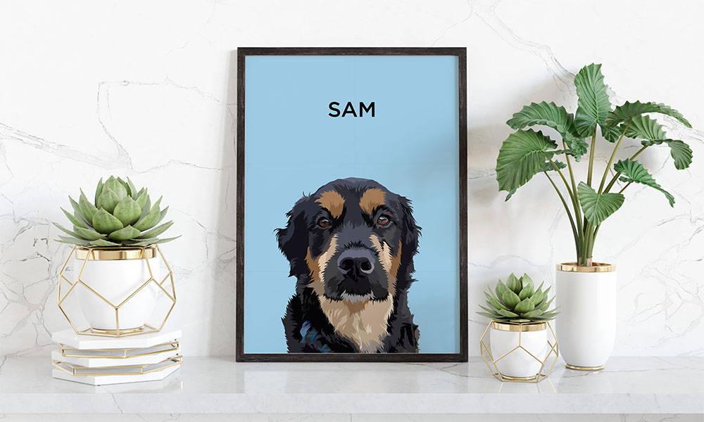 Custom Modern Pet Portrait