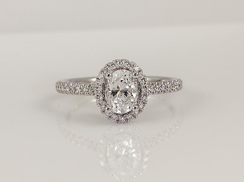 Custom Diamond Engagement Accent Ring