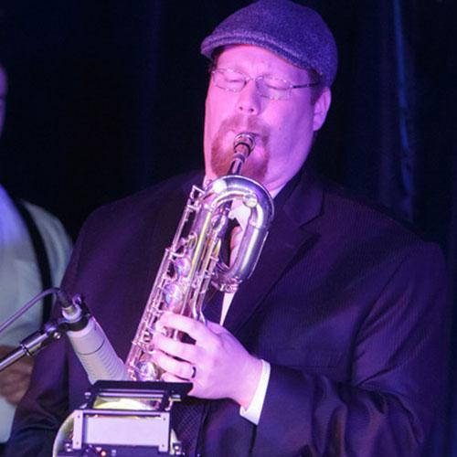 Bari sax player Richard Page
