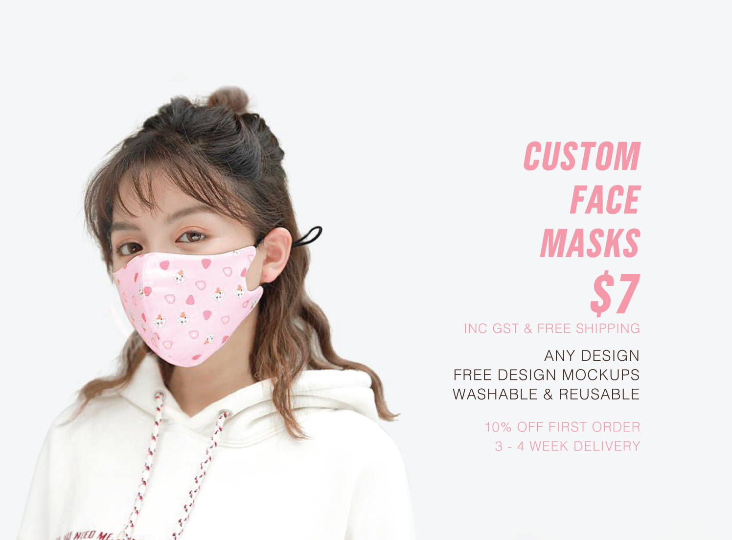 Washable and reusable, our face coverings fit both adults and children.