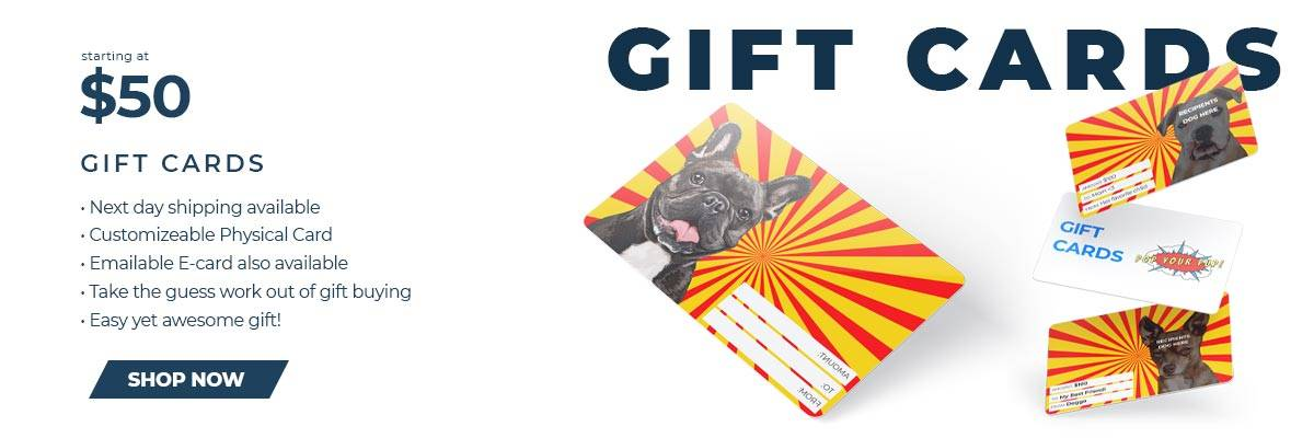 Pop Your Pup gift card banner