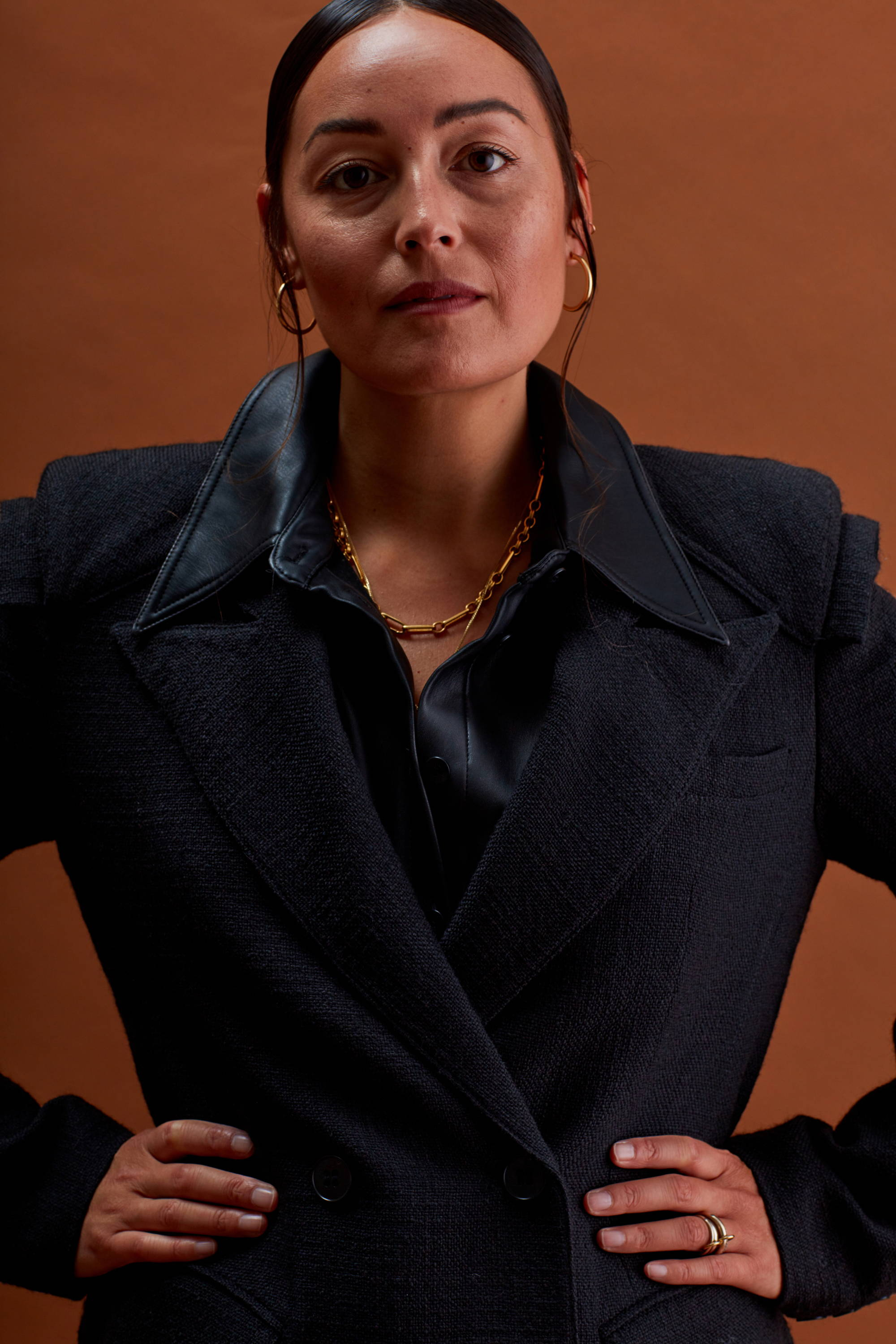 Portrait shot of Rachael Wang in black blazer.