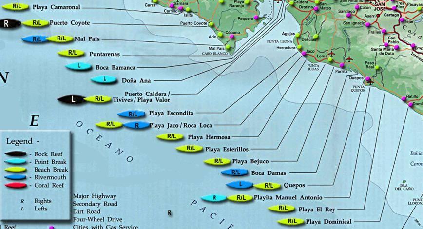 playa dominical costa rica map Surfing Playa Dominical Costa Rica Surf Trip Guide Wave Tribe playa dominical costa rica map