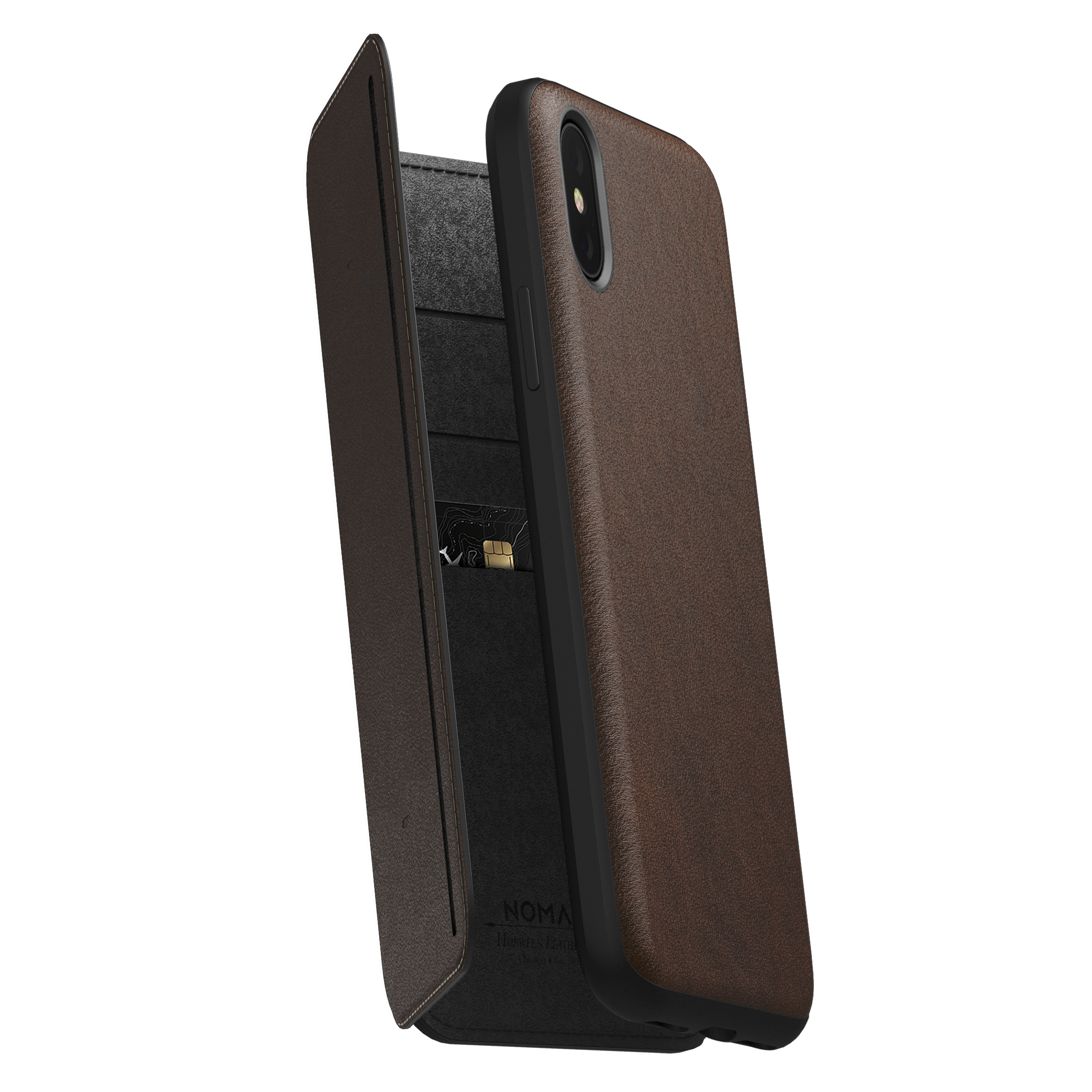 Sweepstake iphone xs case leather black