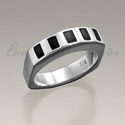 Sterling Silver Mens Token Cremation Ring