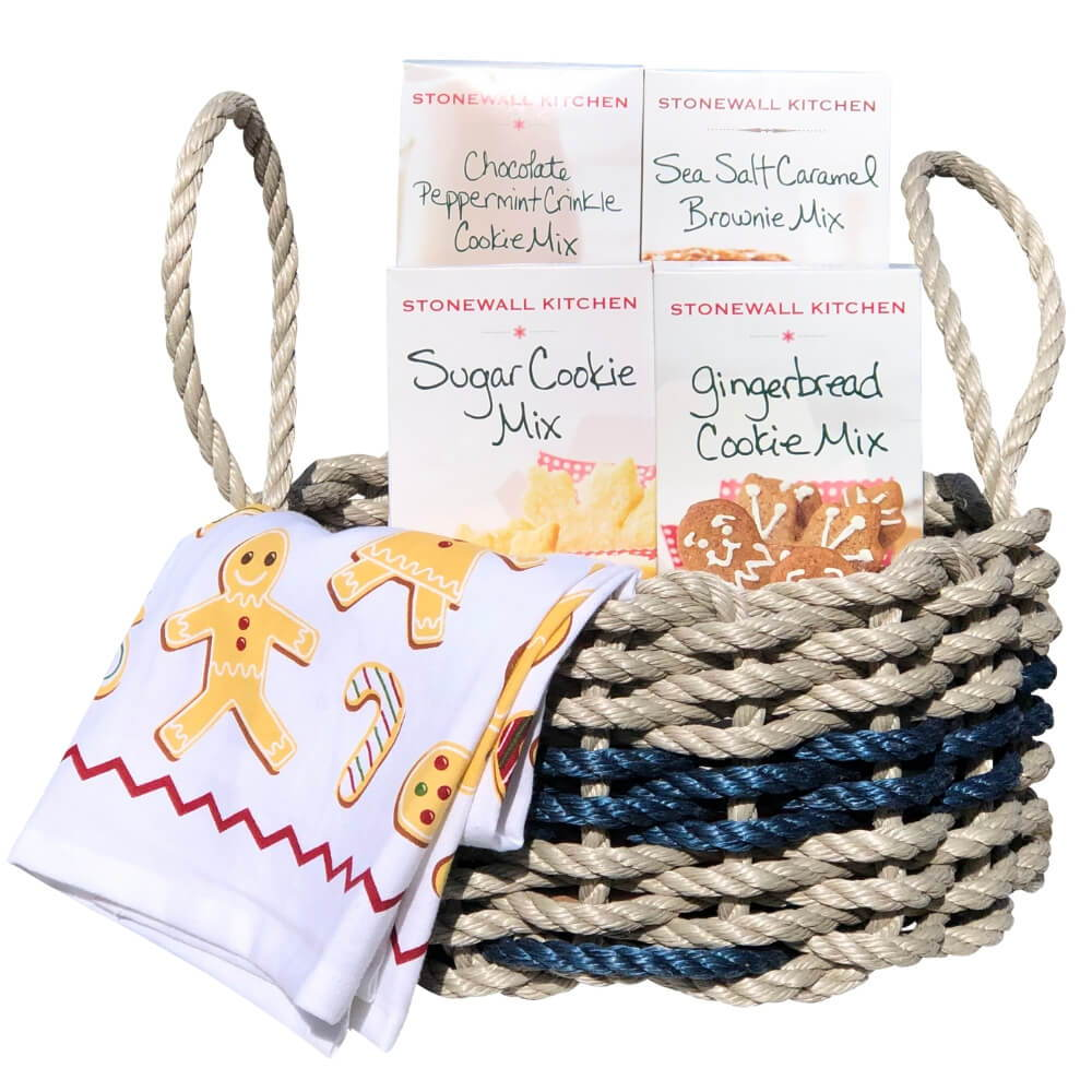 Lobster Rope Nautical Gift Basket