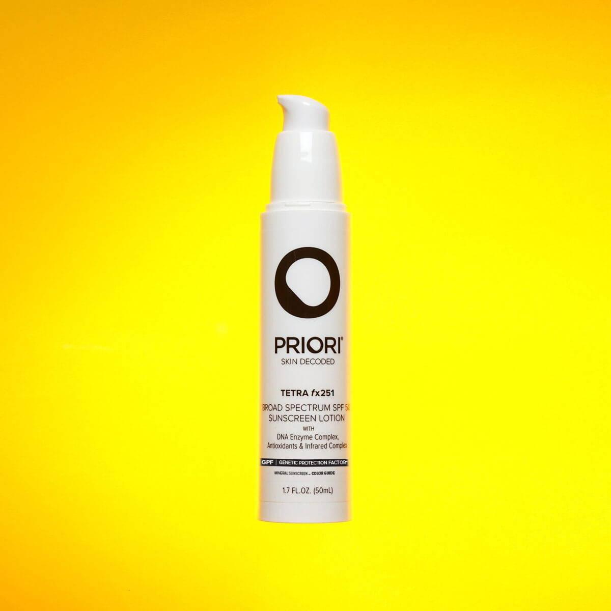 Priori Tetra Tinted Mineral Sunscreen