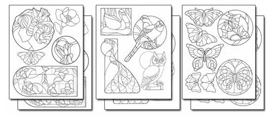 Stick 'n Burn Stained Glass Designs Set 1