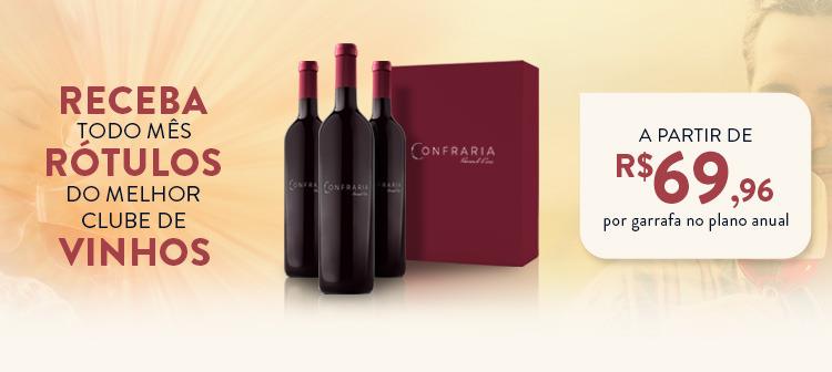 Receba todo mês rótulos do melhor clube de vinhos