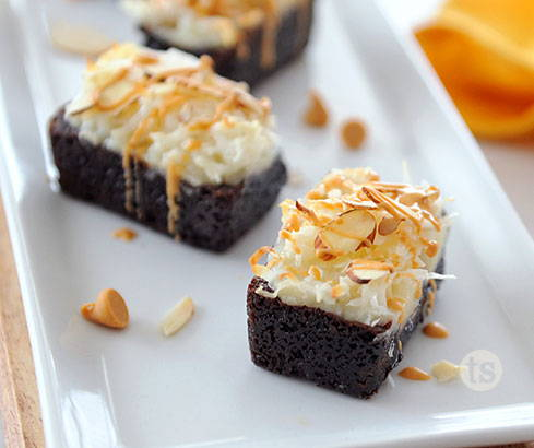 butterscotch macaroon brownies