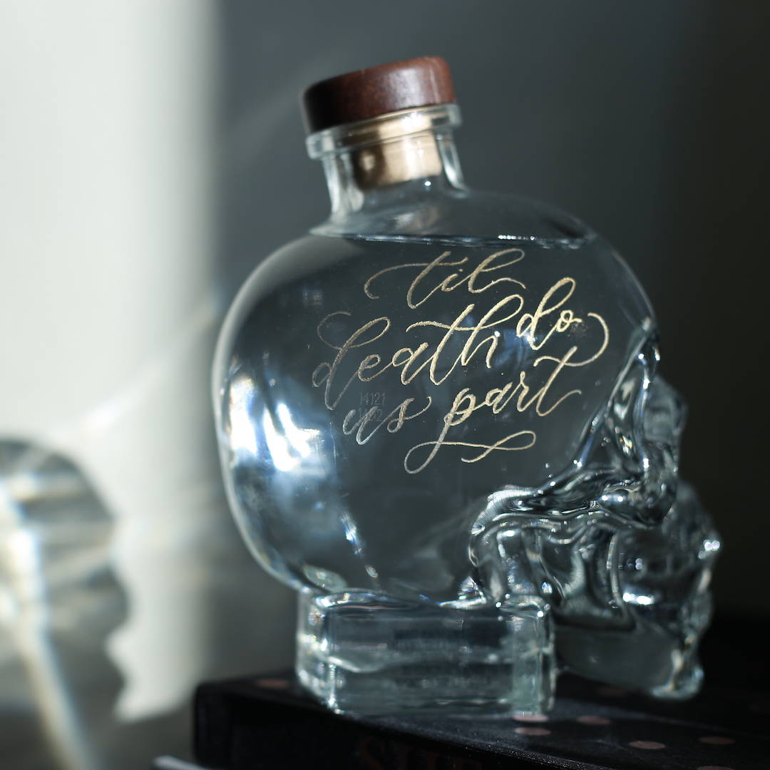 engraved liquor bottle gift